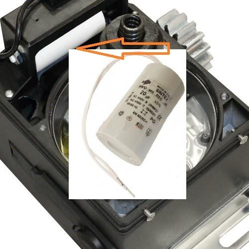 Sliding-800-1300-2100 место установки пускового конденсатора