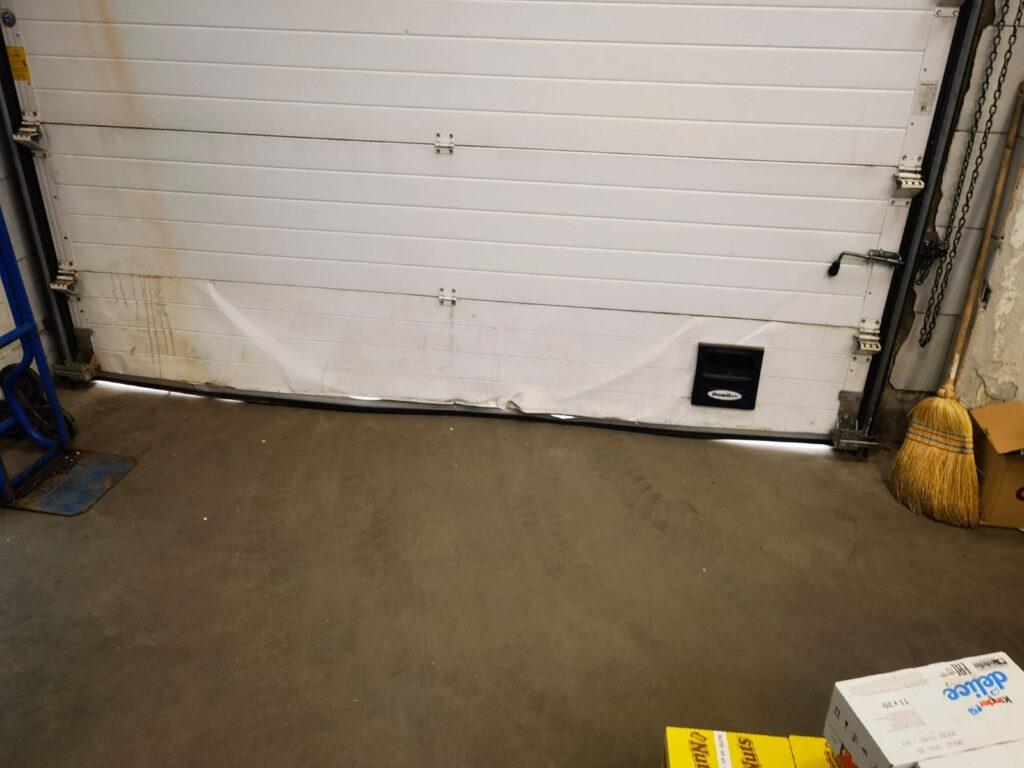 замена нижней секции гаражных ворот